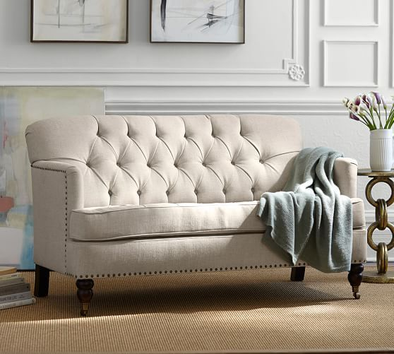 sofa arm hemiaomiao bed loveseat leather square sectional turner sleeper barns pottery me barn