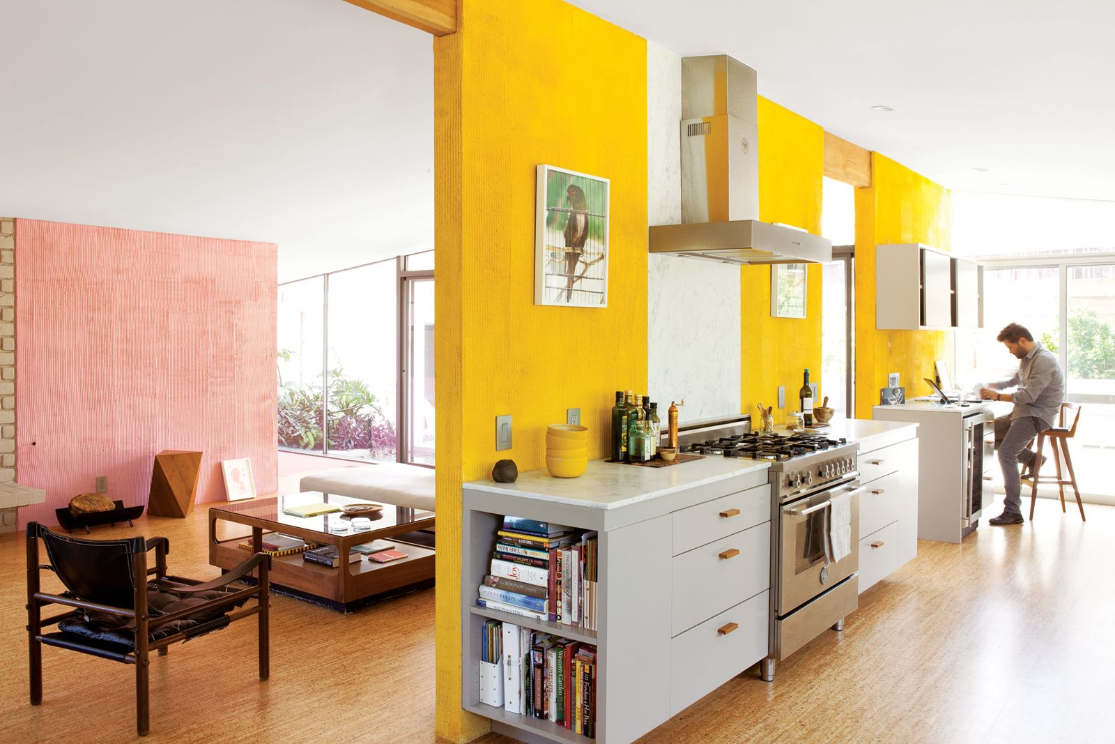 The kitchen of the Devis-Purdy house in Los Angeles features dual ...