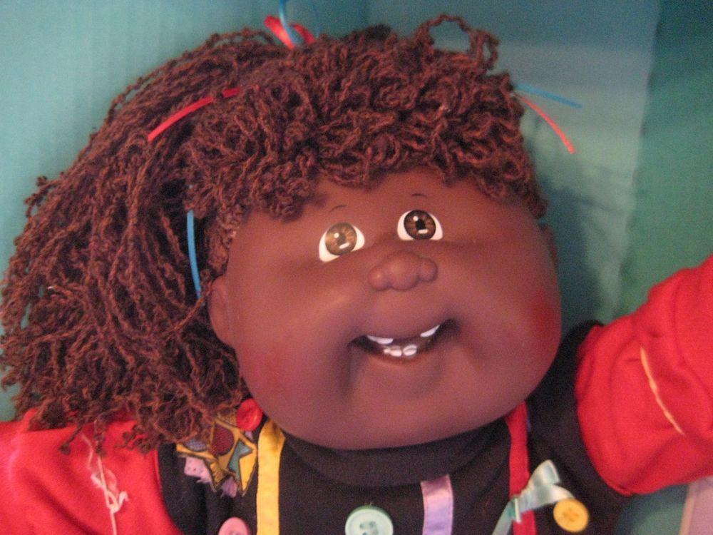 Cabbage Patch Kid Doll Designer Line Aa Black 19 Hm Smile Teeth Cabbage Patch Kids Dolls Cabbage Patch Dolls Cabbage Patch