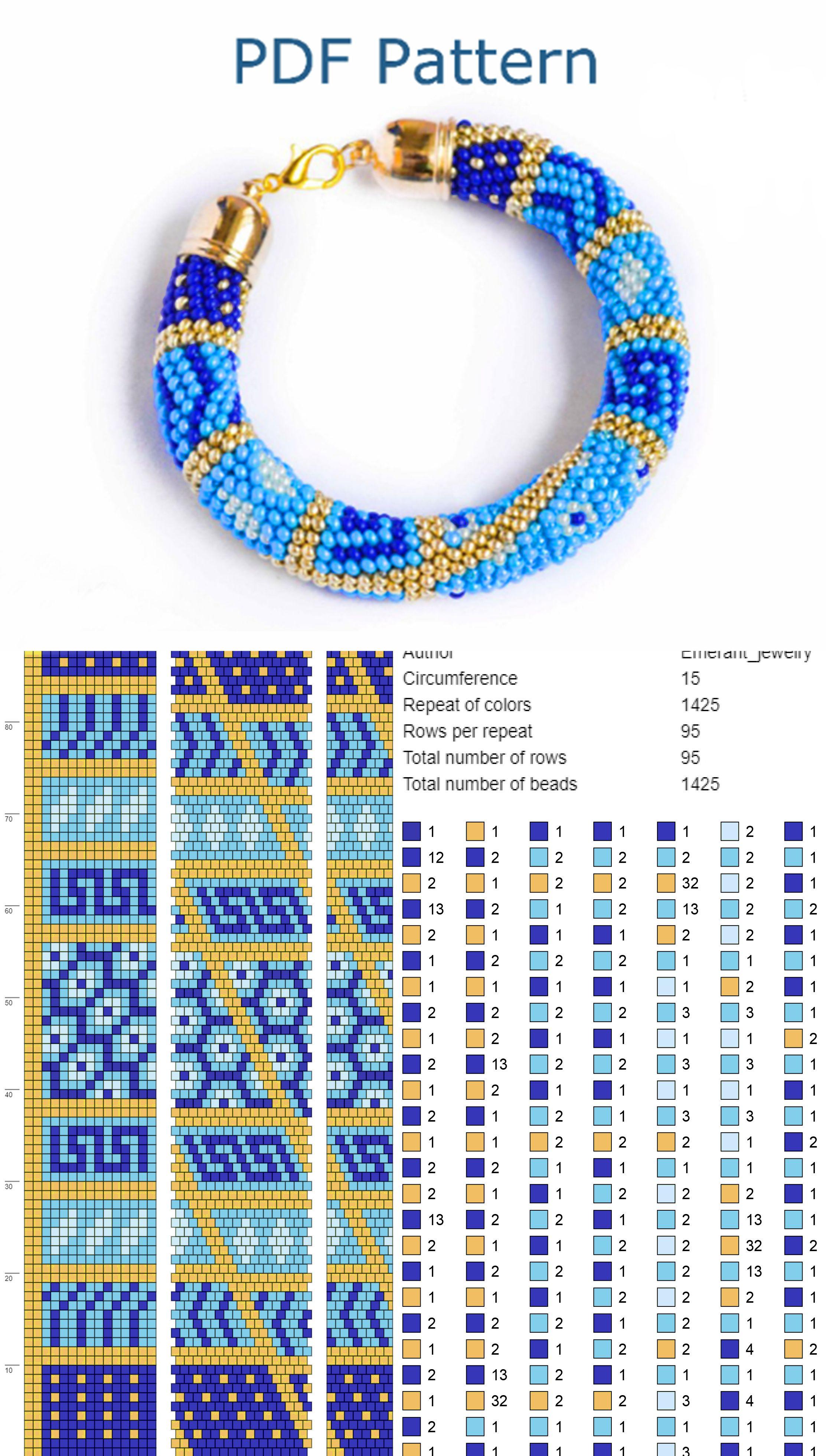 Peyote PDF Bracelet PatternPDFBeading Pattern
