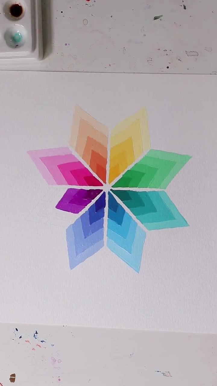 Gorgeous Gouache Ombre Rainbow Painting - Josie Le