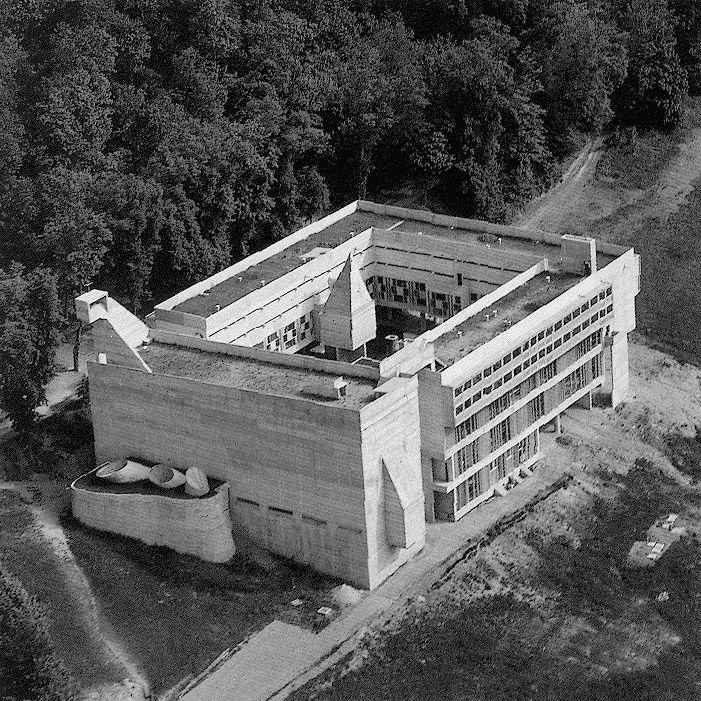 Sainte marie de la tourette la corbusier 1956 1960 for Architektur 1960
