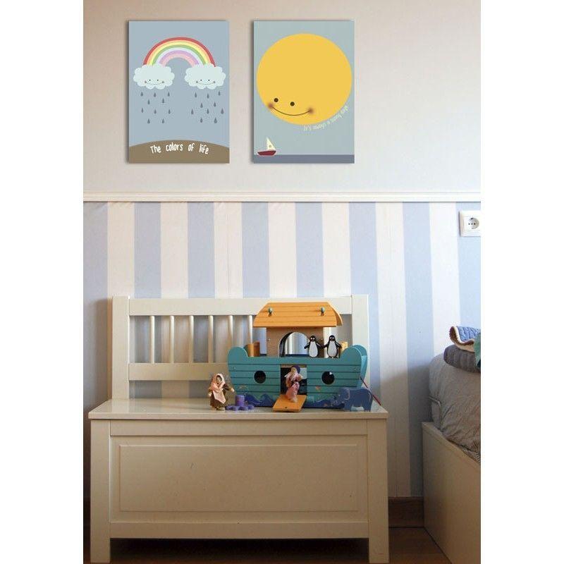 Cuadro infantil arco ris para decoraci n habitaciones de - Cuadros habitaciones infantiles ...