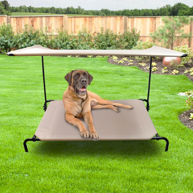 Shade Frame And Canopy Garden Winds Outdoor Dog Bed Dog Kennel Outdoor Dog Bed Frame