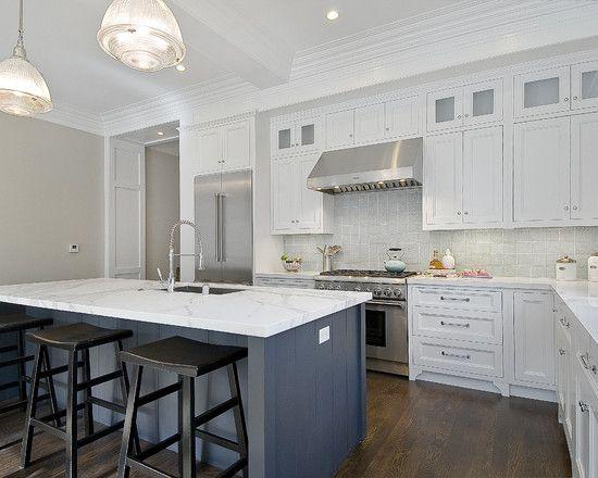 Best Kitchen Narrow Kitchen Black White Theme With Gray Floor 640 x 480