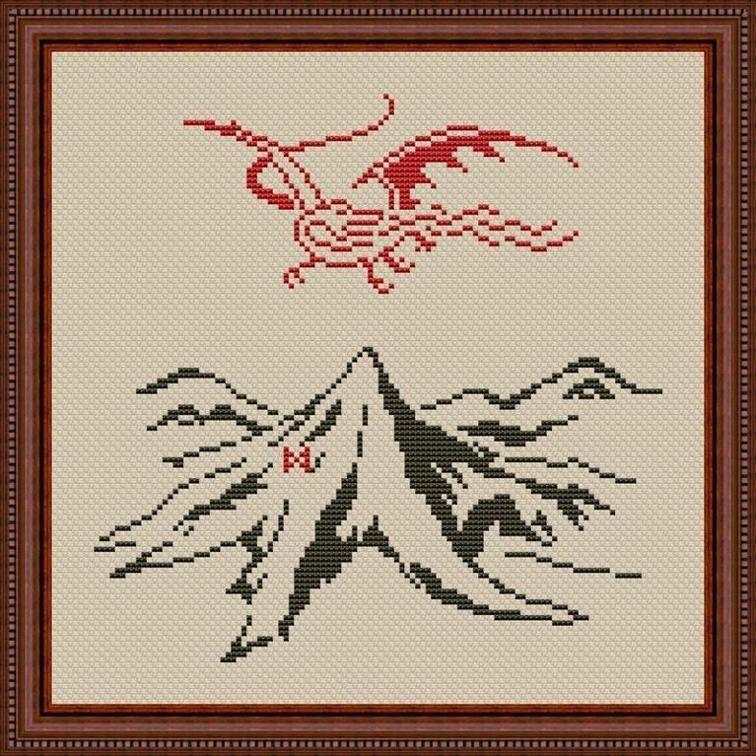 Hobbit Cross Stitch Pattern | ideas | Pinterest | Bordado, Punto de ...