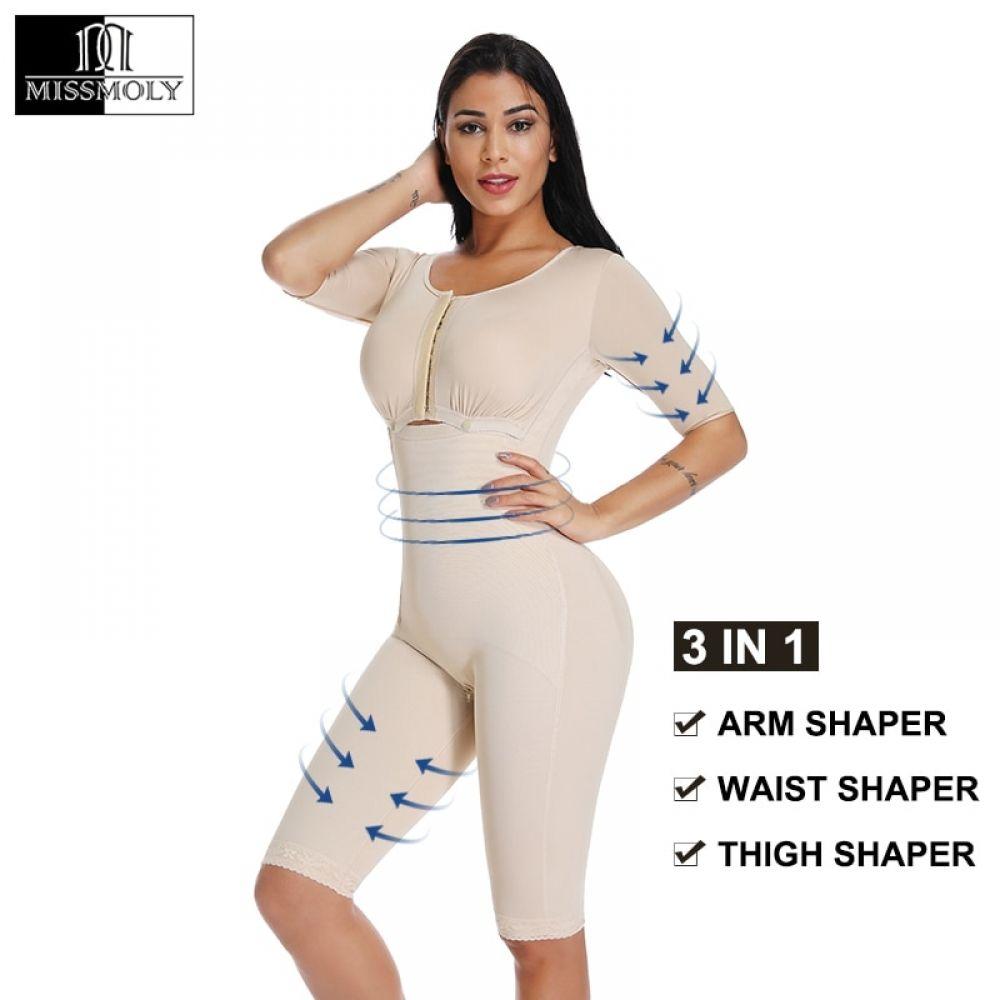 Full Body Shapewear Postpartum Surgery Arm Shaper Buttlift Liposuction Bodysuit