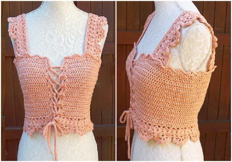 Crochet stylish corset top crochet corset pattern love