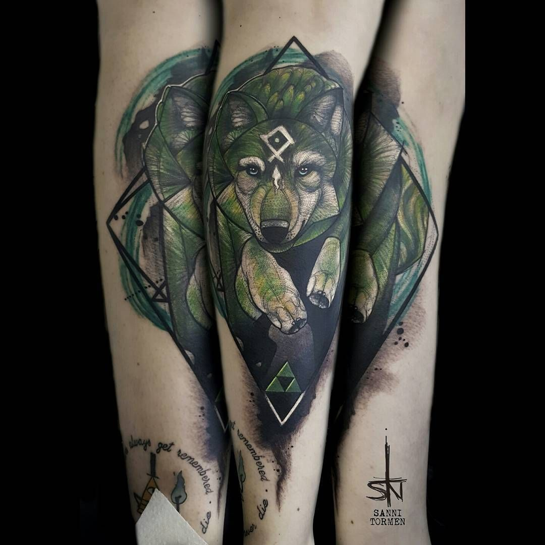 Another Nerdtattoo Wolf Link From Thelegendofzelda Twilightprincess Done At Needlesofpain Straubing Gamingtattoo N Zelda Tattoo Tattoos Sleeve Tattoos