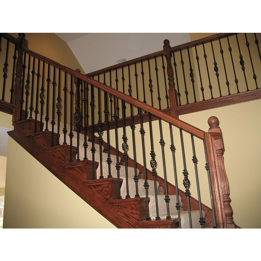 Best Shop House Of Forgings Solid 44 In Satin Black Wrought Iron Versatile Stair Baluster At Lowes 400 x 300