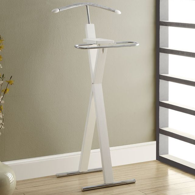 Cappuccino/Chrome Metal Bedroom Valet Contemporary Coat Stands And Umbrella  Stands