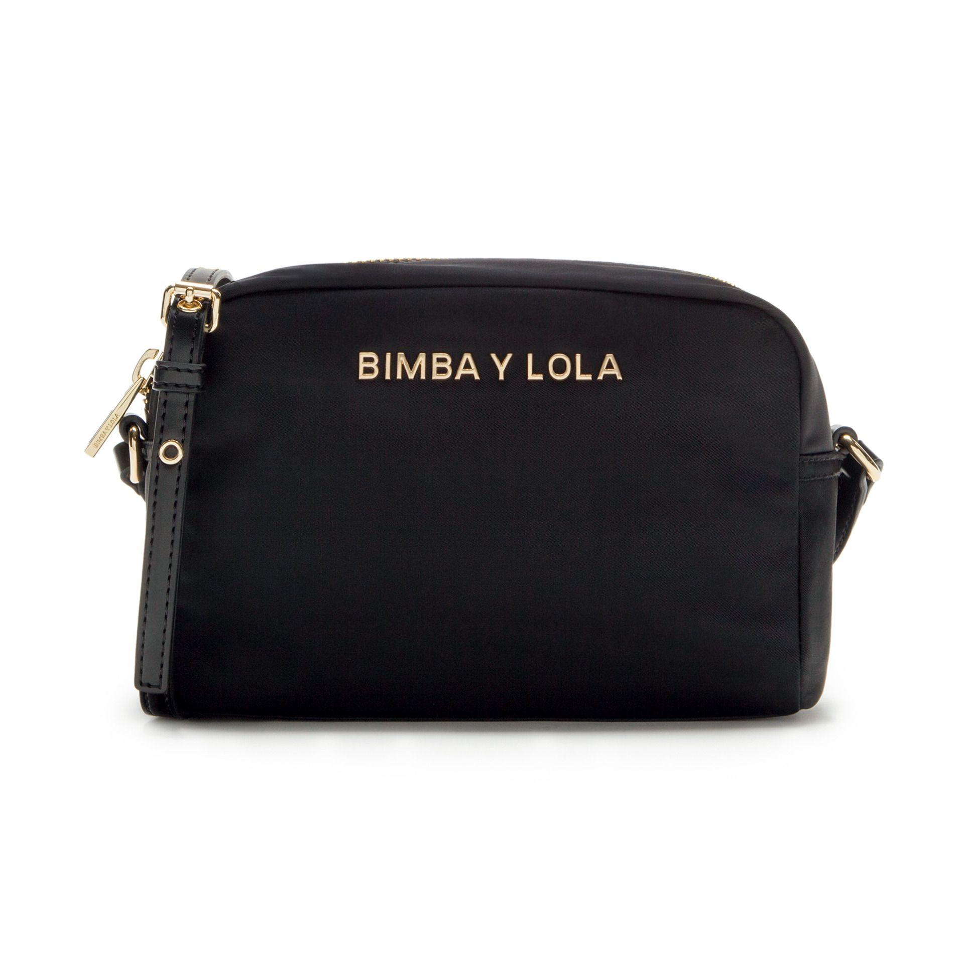 e6b1d319535cd Bandolera rectangular BIMBA Y LOLA en color negro. Pertenece a la Olympia  Collection