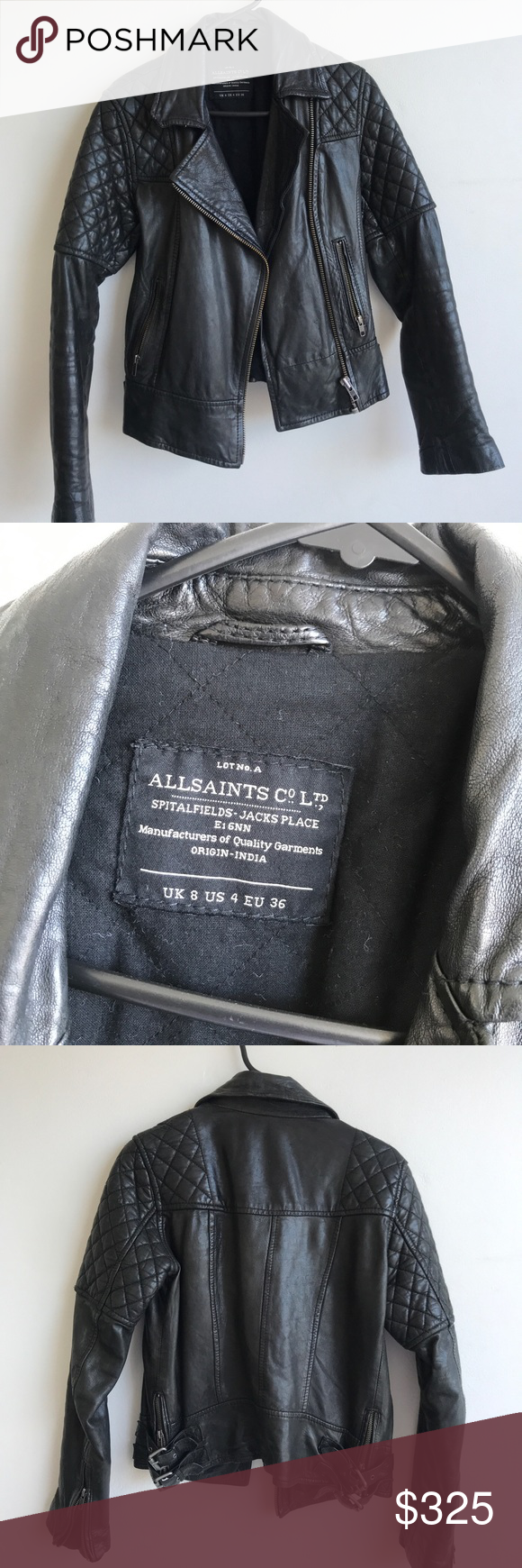 All Saints Walker Leather Jacket (Sz 4) All saints