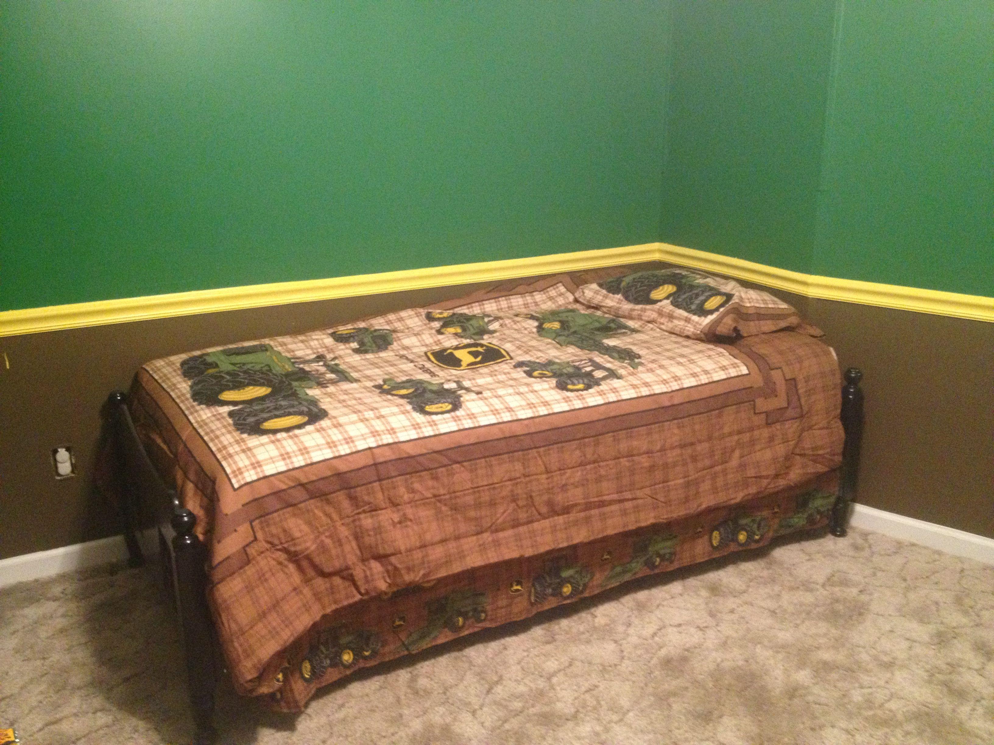 My 4 Year Oldu0027s John Deere Bedroom!