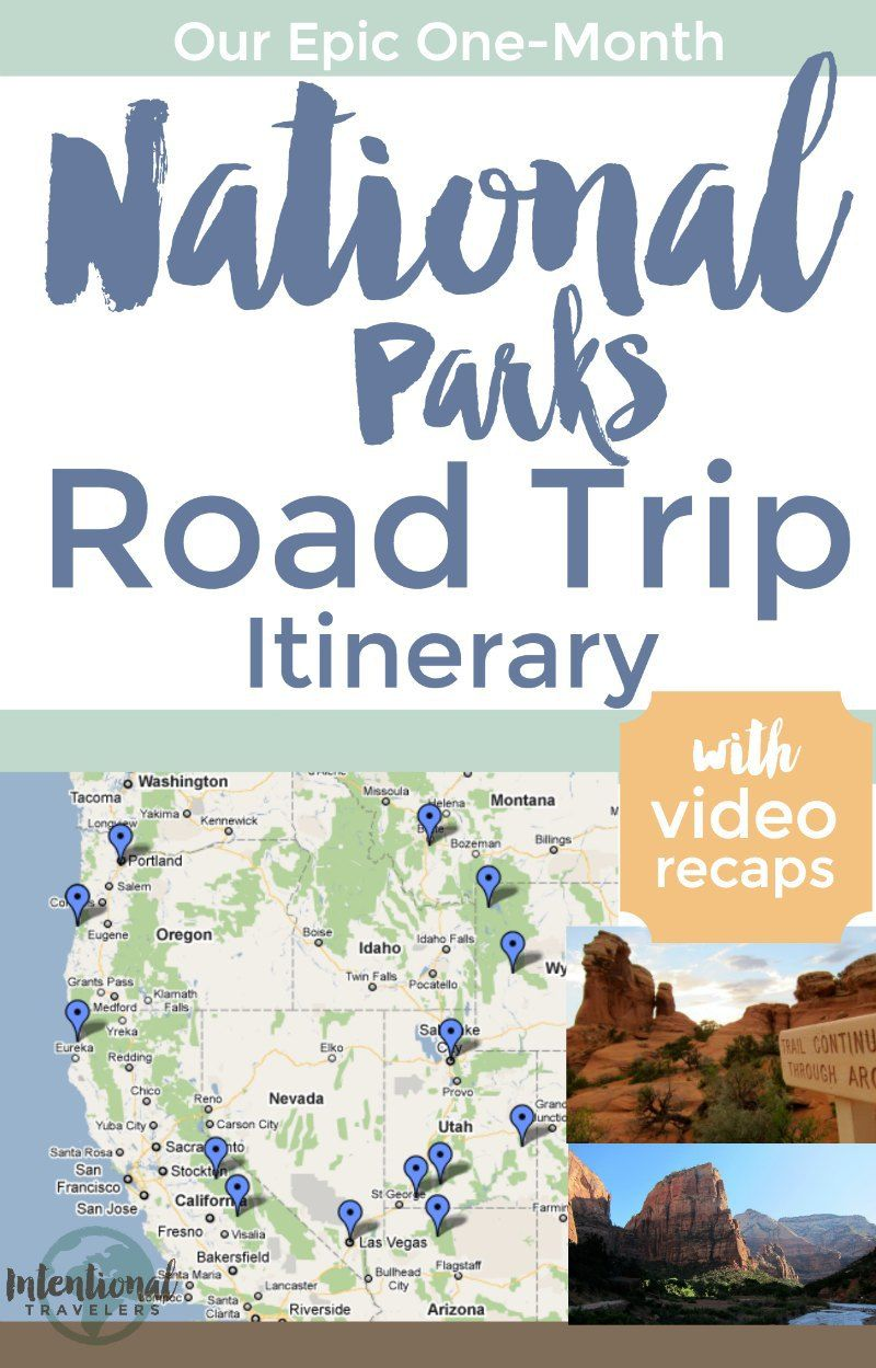 Our National Parks Road Trip Itinerary California National Parks