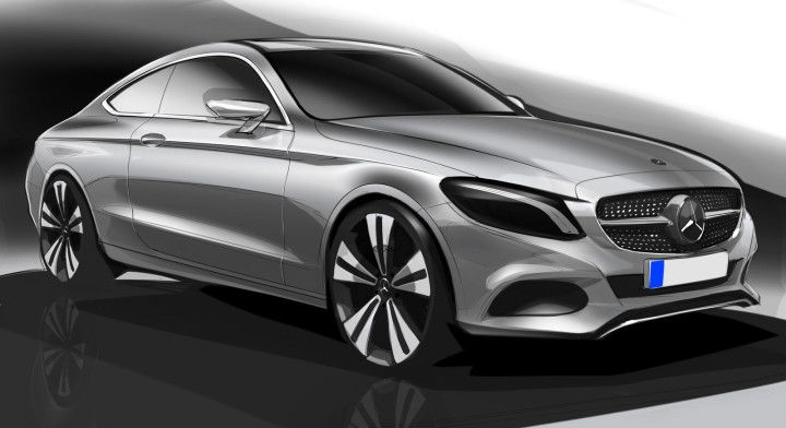 Mercedes-Benz C Class Coupe Design Sketch