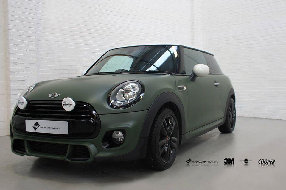 Mini Cooper Wrapped In 3m Matte Military Green Mini Copper