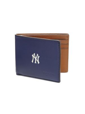 db267485b4 official store coach yankees wallet mens 16ee7 34fa0
