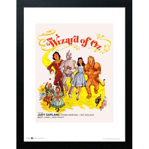 Gerahmtes Poster The Wizard of Oz Yellow Brick Road Home Loft Concept Format: Schwarzer Rahmen, Größe: 40 cm H x 30 cm B #homeentertainment