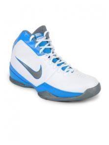 Nike Men White Blue Air Quick Handle Sports Shoes