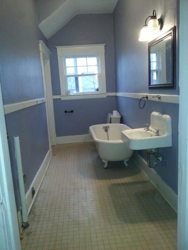 1920s bathroom. Original tub amd sink.