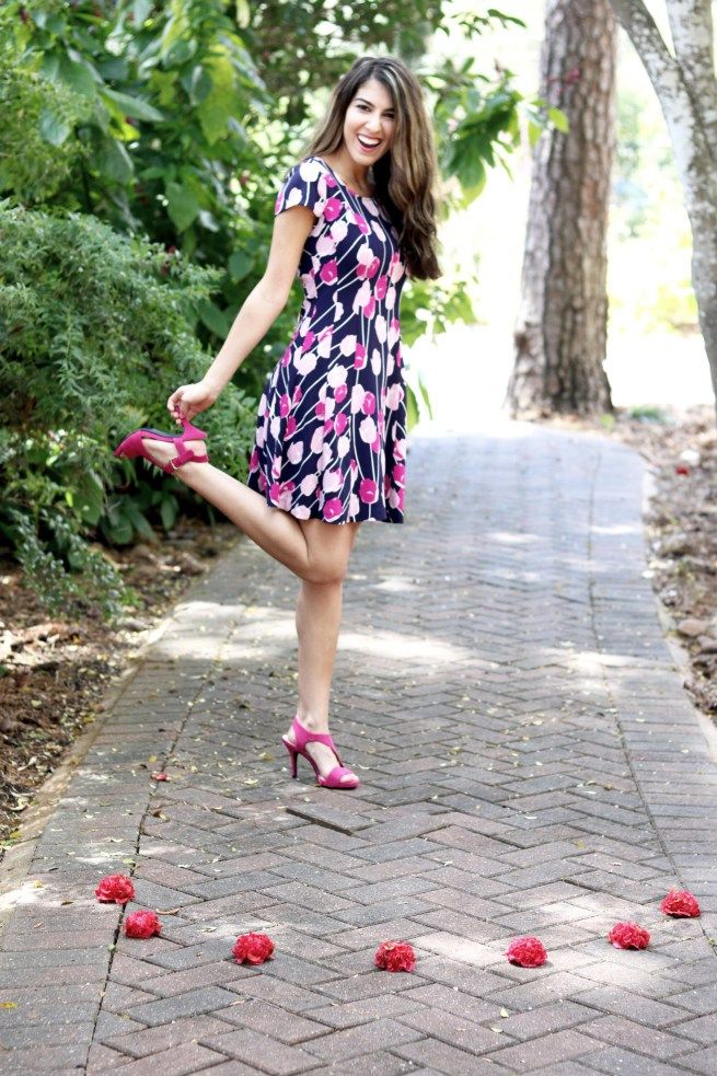 Beautiful Floral Dress featuring Maison Jules. Check out the details at www.finite1.com.
