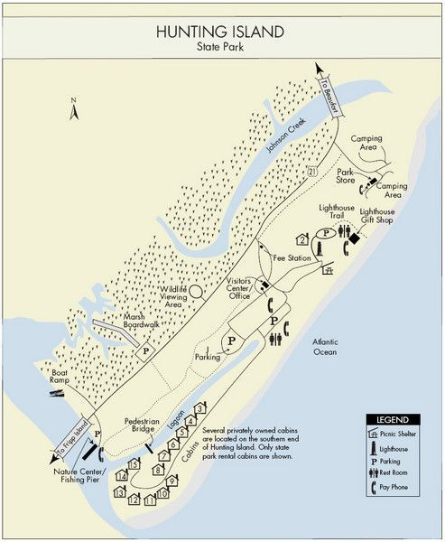 Hunting Island Sc Campground Map State Park Mery