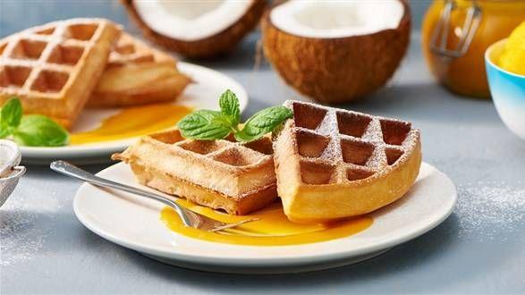 Weganskie Gofry Przepis Recipe Desserts Healthy Sweeteners Recipes