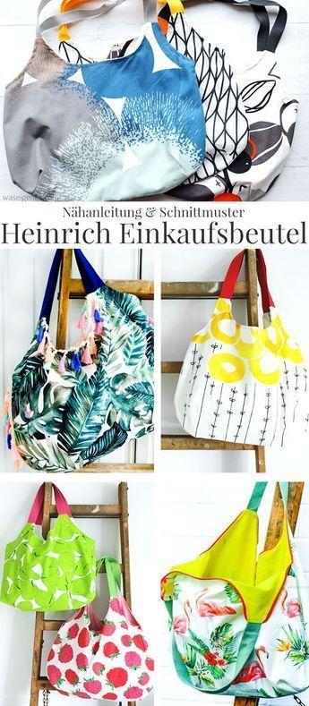 Nähanleitung und Schnittmuster: Heinrich Einkaufsbeutel #bagpatterns