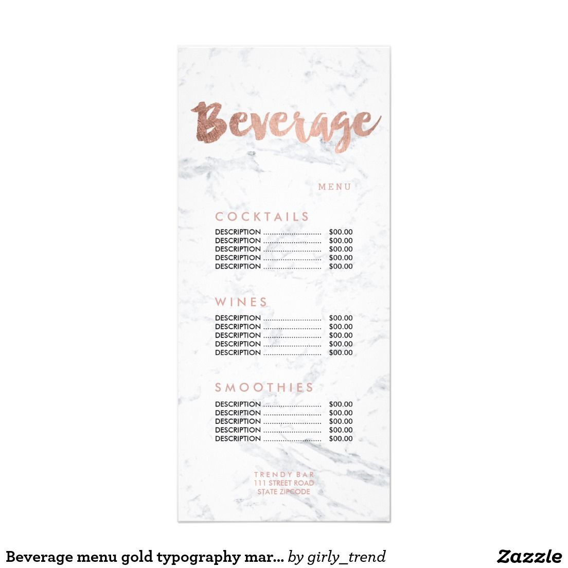 Beverage menu gold typography marble price list business cards beverage menu gold typography marble price list marble pricebusiness card magicingreecefo Image collections