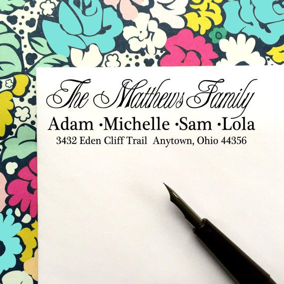 Return Address Stamp Handwriting by LittlebeaneBoutique on Etsy
