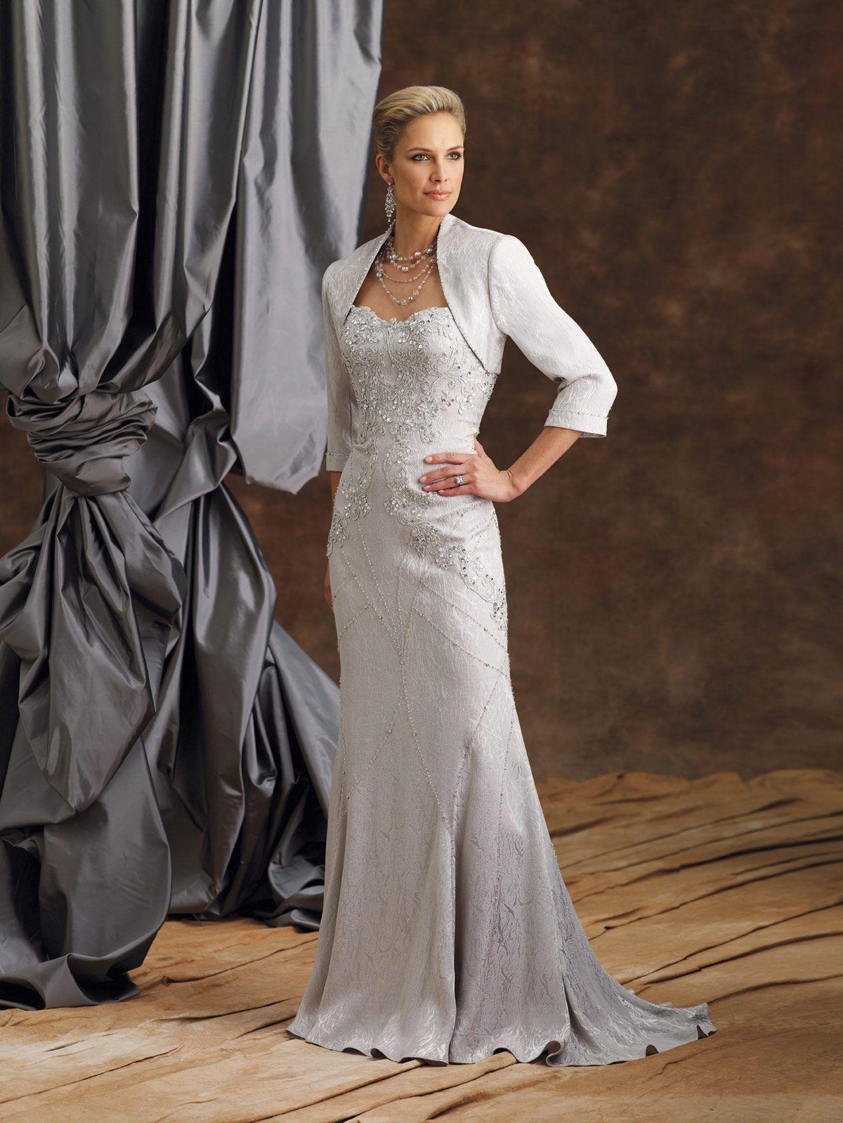 Twopiece jacquard dress set, strapless sweetheart mermaid