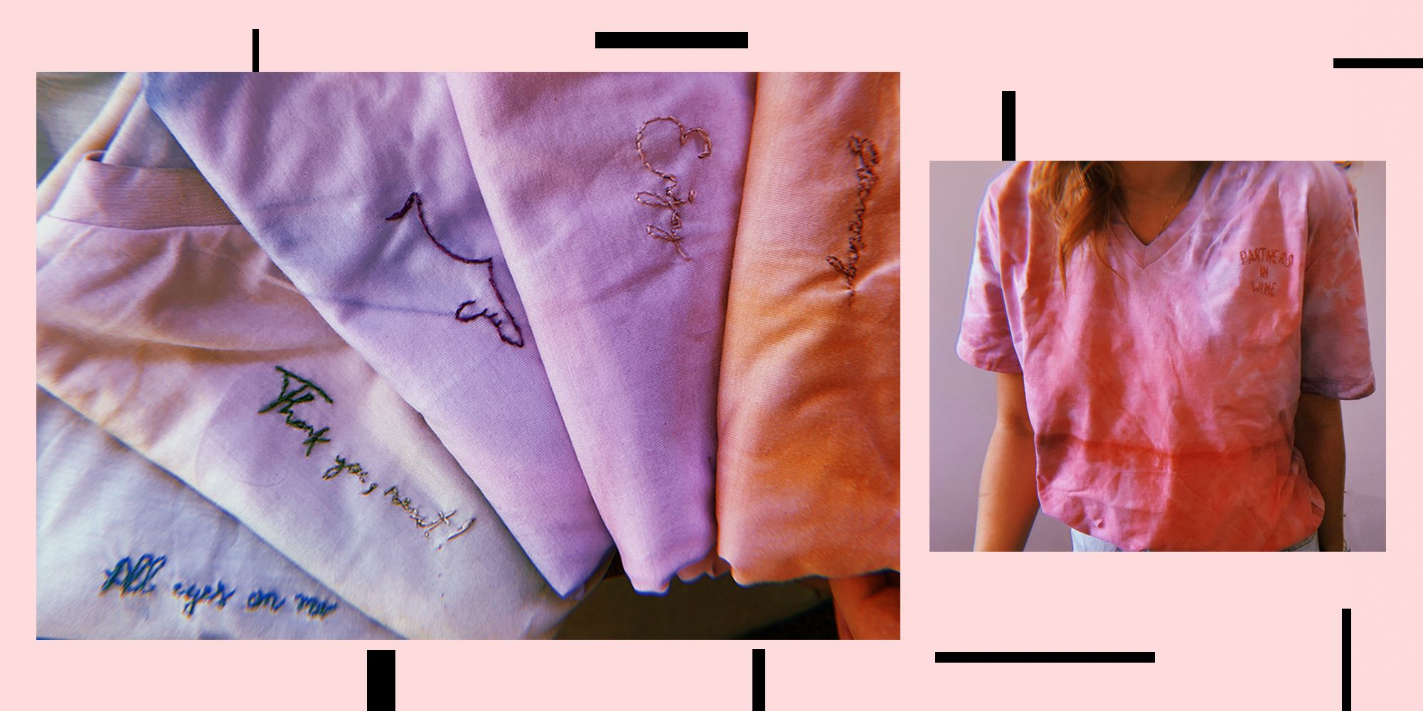 Camisetas #tiedye pintadas e bordadas manualmente, ✨ . #handmade #shoplocal #feitoamao #camiseta #bordado