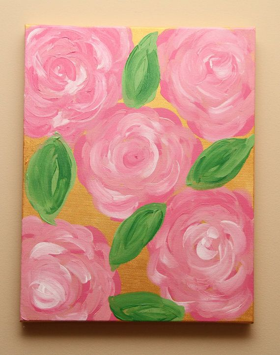 11 x 14 Monogrammed Lilly Pulitzer Print by CanvasPaintingsJP