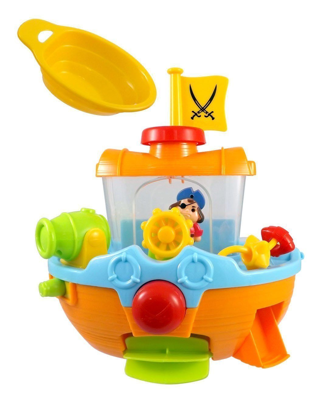 Beby Bath time Pirate Ship Toddlers Tub Toy for kids with Water ...
