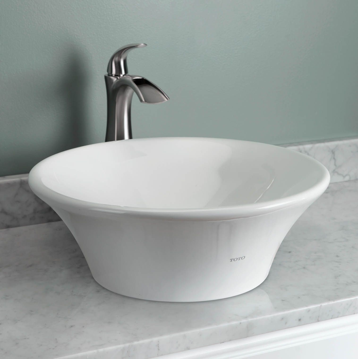 Buy Toto Lt524g 01 Alexis 17 3 4 Above Counter Bathroom Sink Kuchen Bader Bad