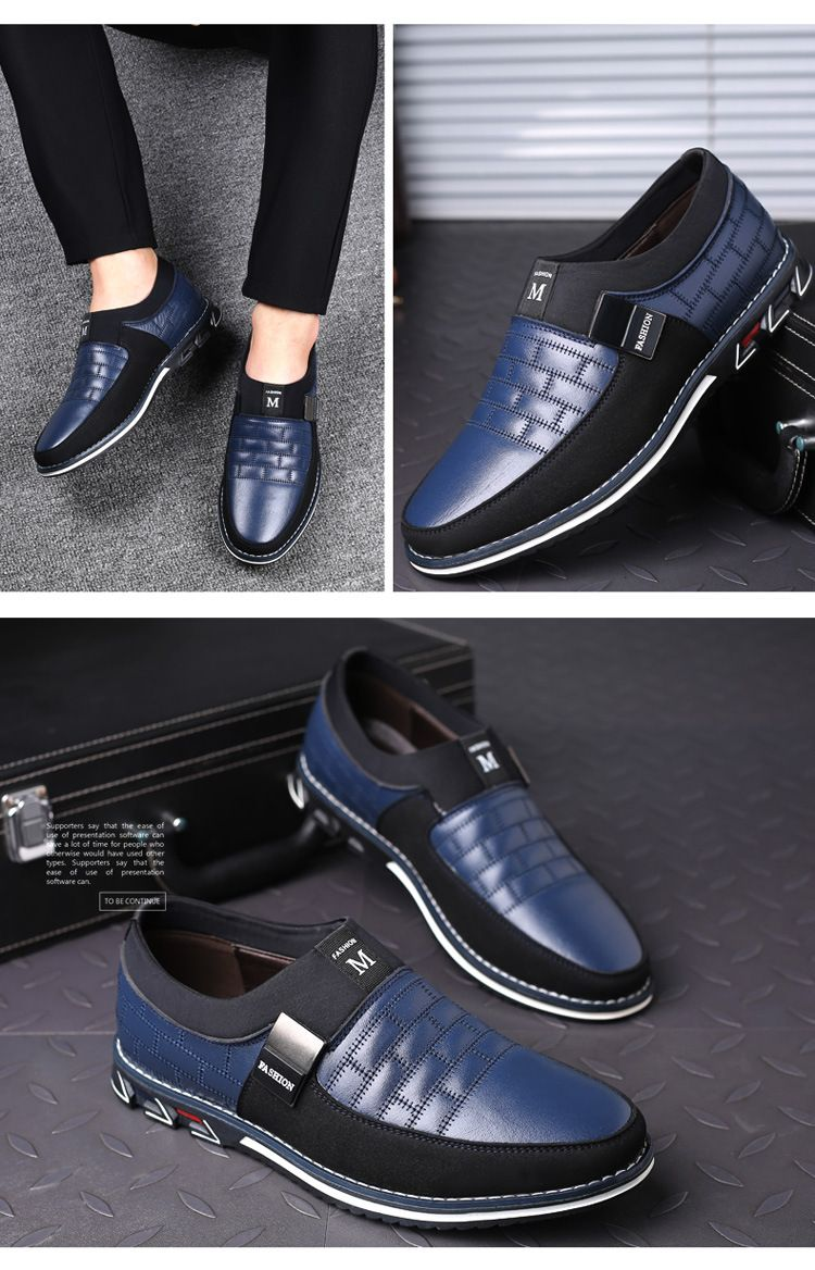 Fashion Men's Leather Slip on Shoes in 2020 | Mens fashion