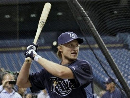 Steven Stamkos batting for the Tampa Bay Rays