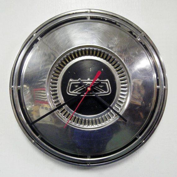 1967  1972 Ford Hubcap Clock  Wall Clock  Falcon by StarlingInk, $34.99