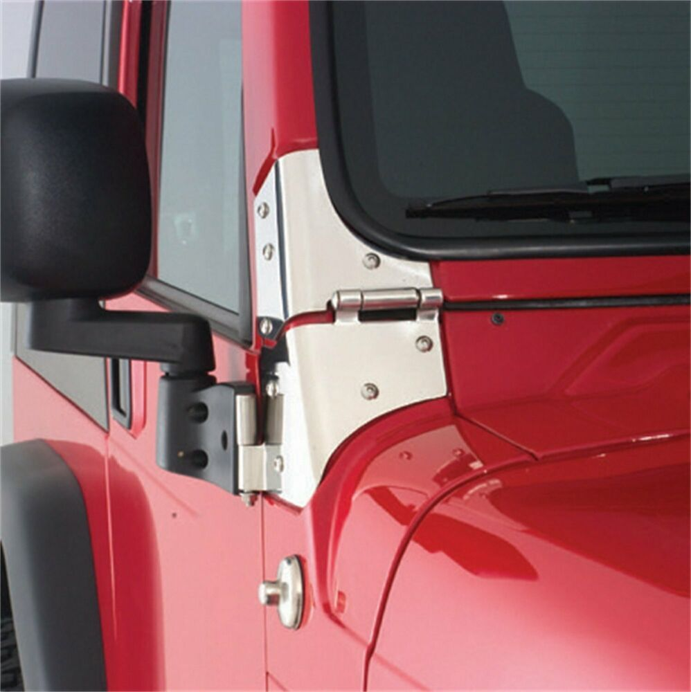 Details About Smittybilt Black Mirror Relocation Brackets Fits