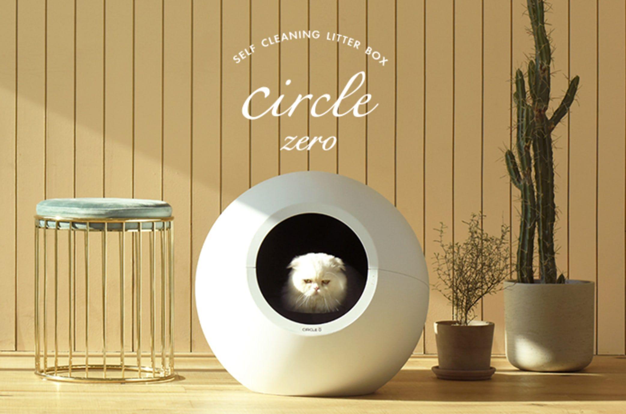 Circle zero zeroodor selfcleaning litter box