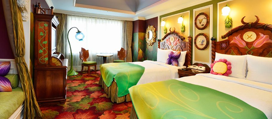Gorgeous Tangled Themed Guest Rooms At Tokyo Disneyland: Disney Movie Themed Rooms Are Something We Have Seen In