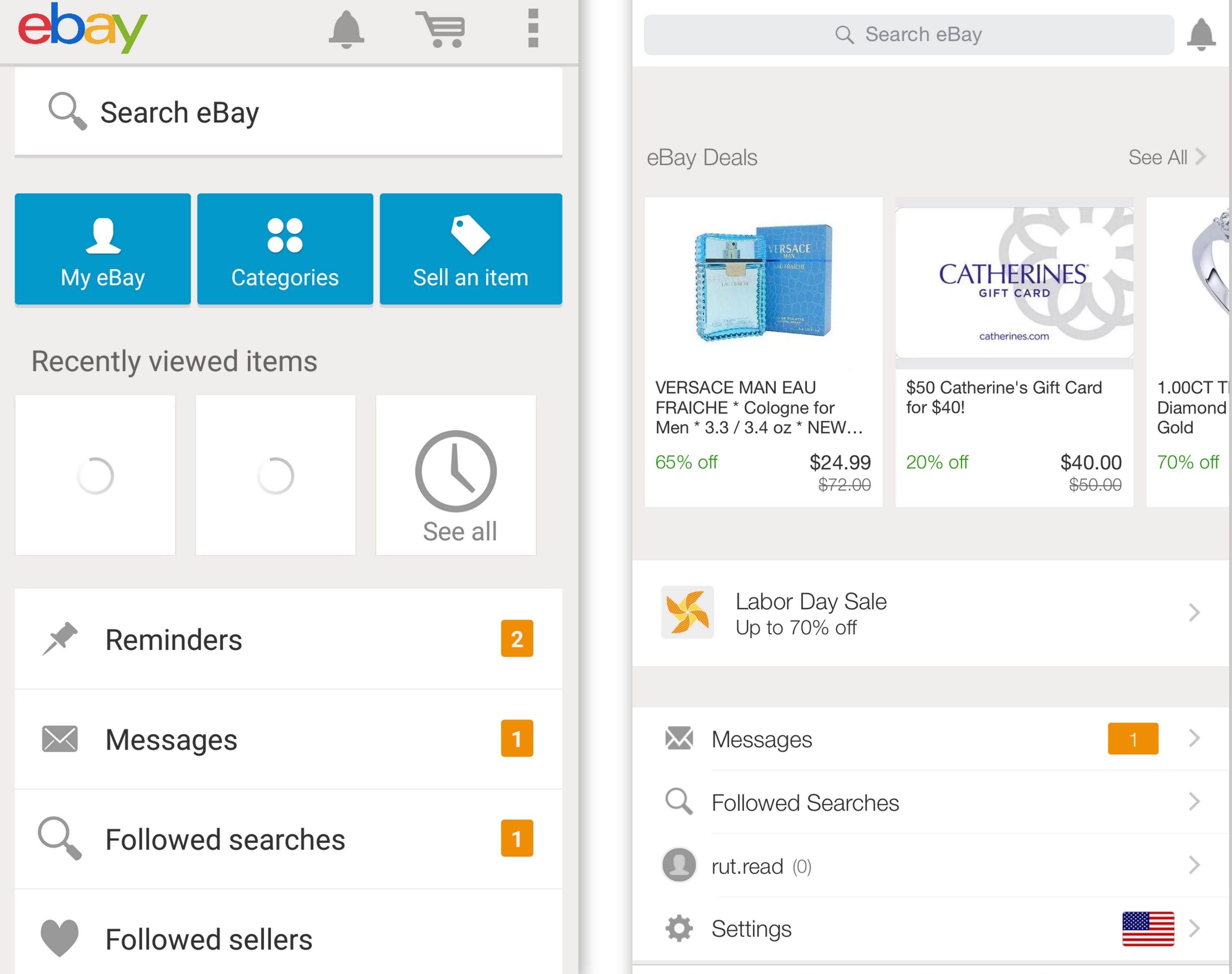 Shopping App Interface Ebay Google Search Mobile App Interface App Interface Version