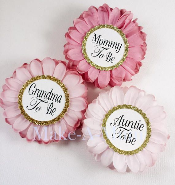 Modern Rose Blush Rosa Chica Baby Shower Corsage Favores