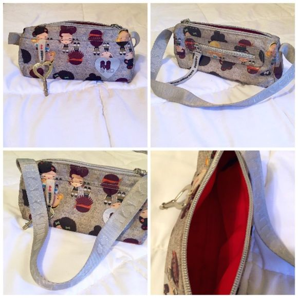 5739a41cfb Harajuku Lovers Gray Mini Purse Small Gray Harajuku Lovers Fatal Attraction  to Cuteness Purse. Excellent used condition. Zipper top and back zipper ...
