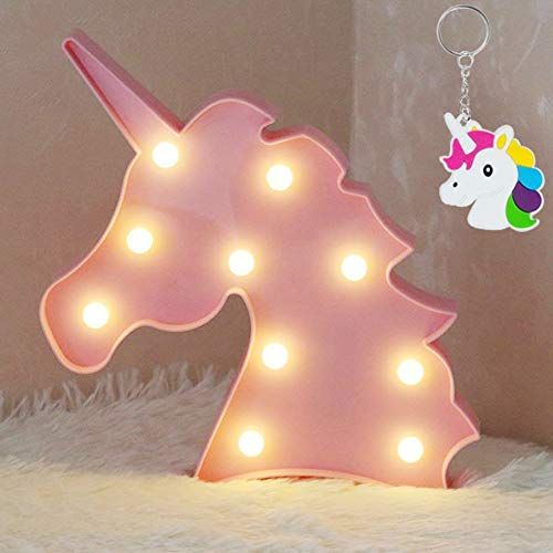 AIZESI LED Einhorn Lampe Rosa Deko,Unicorn LED Night