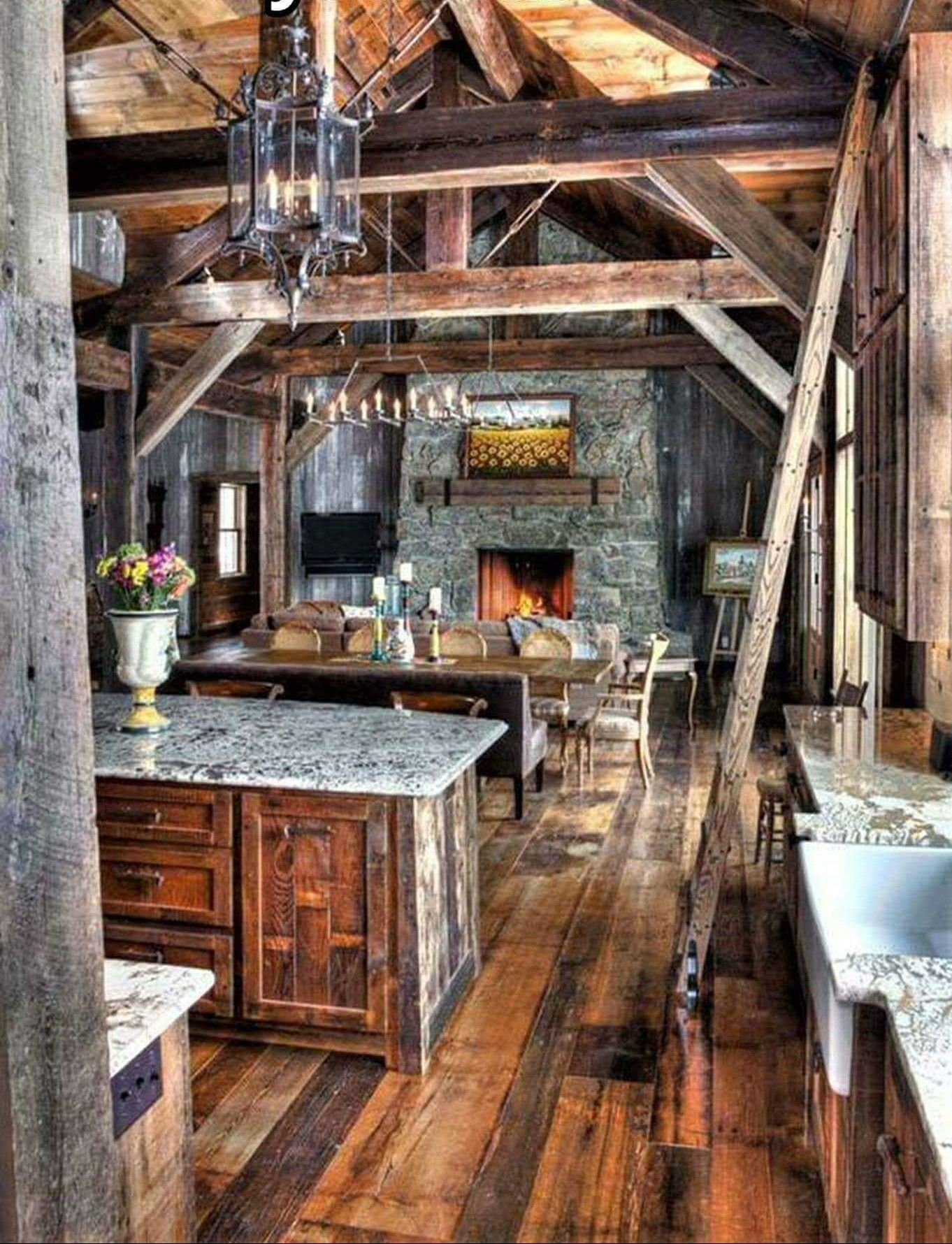 cabin kitchen decor inexpensive cabinets pin by mercy krause on house kitchens apple rustic log homes barn island forest