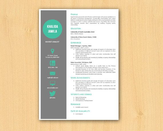 Green Modern Microsoft Word Resume Template Khalida By Inkpower
