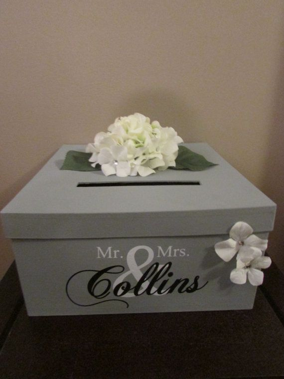 Hey I Found This Really Awesome Etsy Listing At Https Www Etsy Com Listing 181553625 Grey Wedding Card Bo Card Box Wedding Wedding Cards Wedding Card Holder