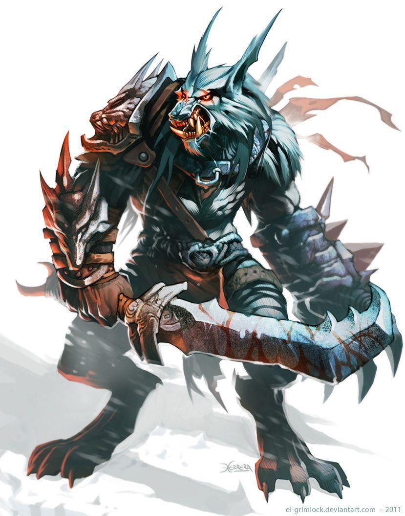 Werewolf Warrior by el-grimlock.deviantart.com on @deviantART